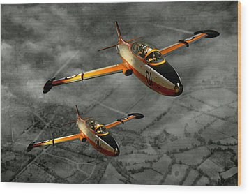 Aermacchi In Flight Wood Print