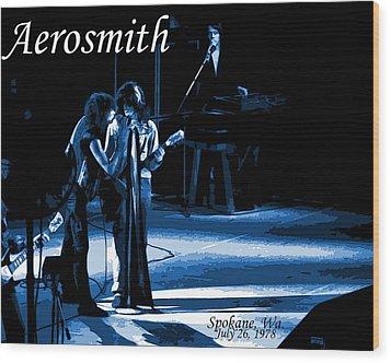 Aerosmith In Spokane 12c Wood Print by Ben Upham