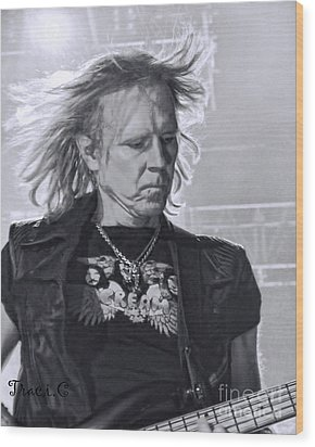 Aerosmith Wood Print by Traci Cottingham