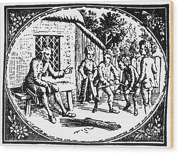 Aesop: Father & His Sons Wood Print by Granger