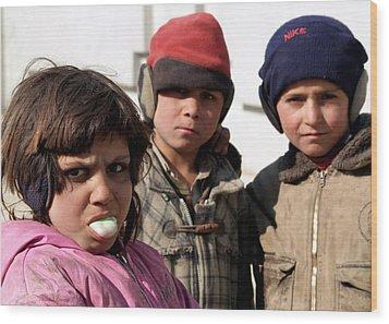 Afghan Children Wood Print