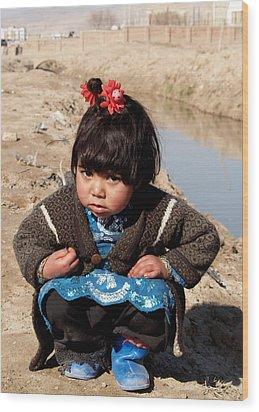 Afghan Girl Wood Print