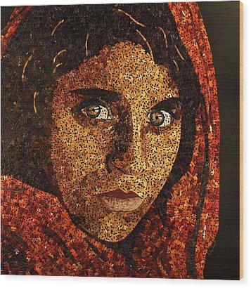 Afghan Girl II Wood Print