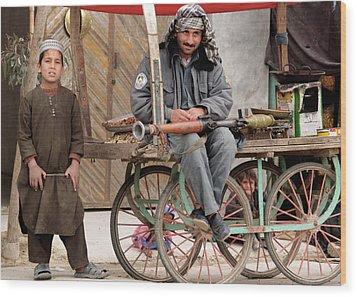 Afghan's Live Wood Print