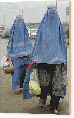 Afghan's Veil Wood Print