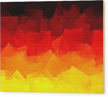 Wood Print featuring the digital art Afire by Jeff Iverson