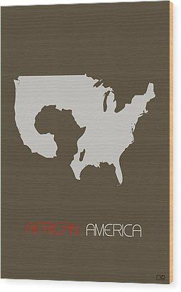 African America Poster Wood Print by Naxart Studio