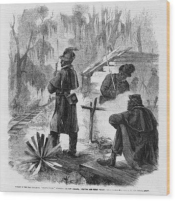 African American Pickets Of The First Wood Print by Everett