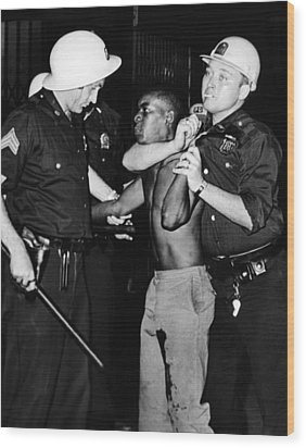 African American Who Has Been Shot Wood Print by Everett
