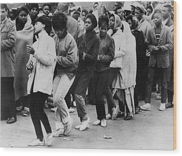 African American Women Dance At A Civil Wood Print by Everett