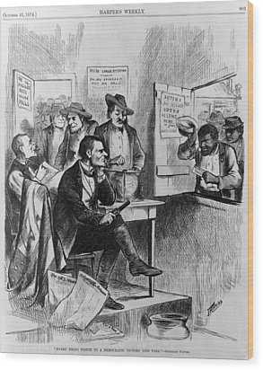 African Americans Being Discriminated Wood Print by Everett