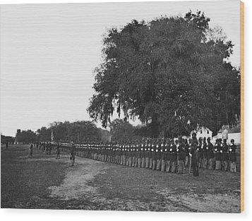 African Americans Soldiers Of The 29th Wood Print by Everett