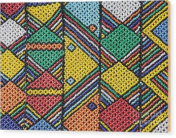 African Beadwork 1 Wood Print by Neil Overy