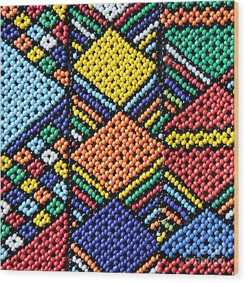 African Beadwork 2 Wood Print by Neil Overy