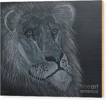African King Wood Print by Gerald Strine