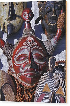 Wood Print featuring the photograph African Mask by Werner Lehmann