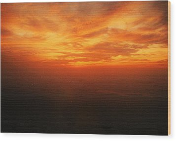 African Sky Wood Print by Kehinde Thompson