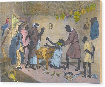 Afro-caribbeans Engaging Wood Print by Everett