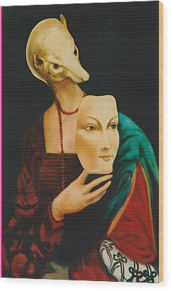 Wood Print featuring the painting After Da Vinci by Irena Mohr