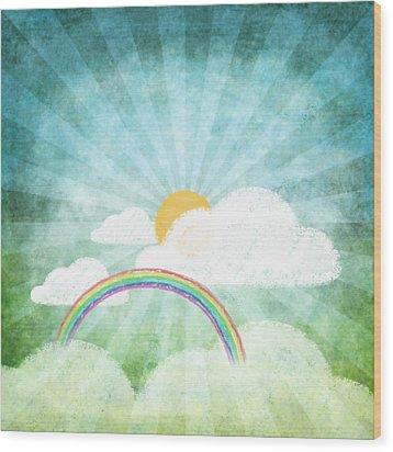 After Rainy Wood Print by Setsiri Silapasuwanchai