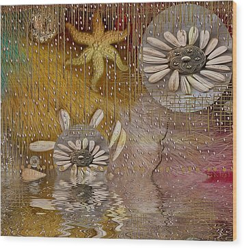 After The Rain Under The Star Wood Print by Pepita Selles