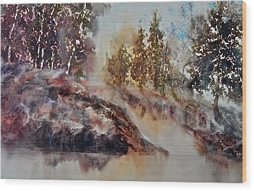 After The Rains Wood Print by Carolyn Rosenberger