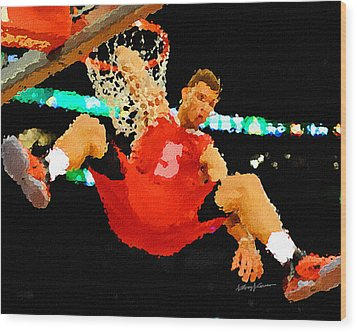 After The Slam Dunk Wood Print by Anthony Caruso