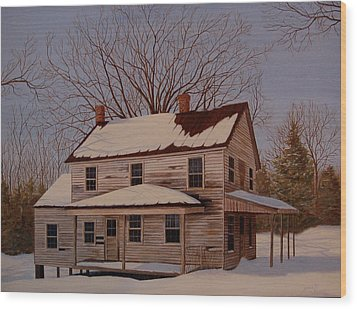 Wood Print featuring the painting After The Storm by AnnaJo Vahle