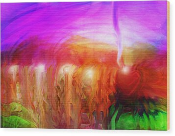 After The Storm Wood Print by Linda Sannuti