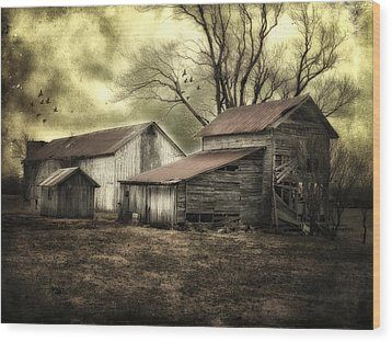 Wood Print featuring the photograph After The Storm by Mary Timman