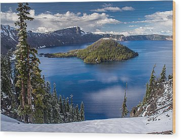 Afternoon Clearing At Crater Lake Wood Print by Greg Nyquist