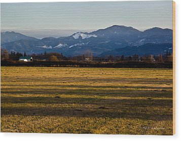 Wood Print featuring the photograph Afternoon Shadows Across A Rogue Valley Farm by Mick Anderson