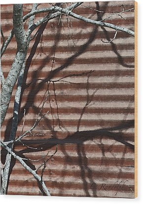 Wood Print featuring the photograph Against A Wall by Cheri Randolph