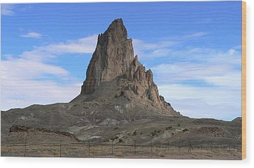 Wood Print featuring the photograph Agathla Peak by Scott Rackers
