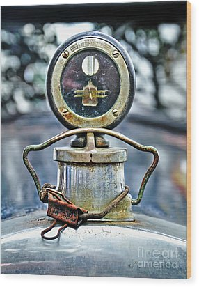 Aged Boyce Moto-meter With Added Paper Clip Wood Print by Kaye Menner