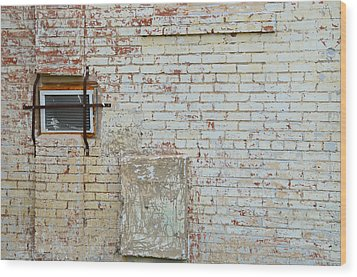 Aged Brick Wall With Character Wood Print by Nikki Marie Smith