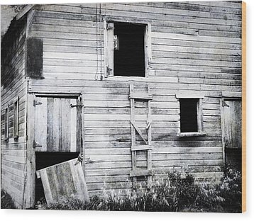 Aging Barn  Wood Print by Julie Hamilton