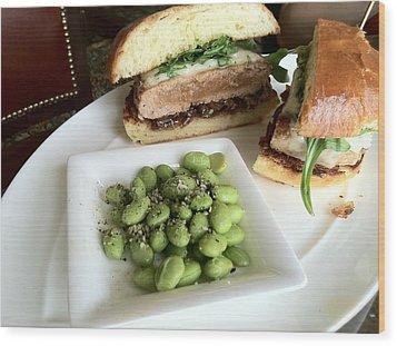 Ahi Tuna Sandwich At Pebble Beach Wood Print by GuitarGeeks Photography