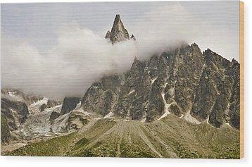 Aiguille Du Dru In Mont Blanc Massif Wood Print by David Pérez