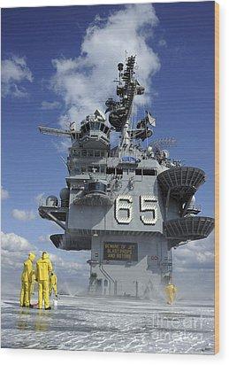 Air Department Sailors Test Wood Print by Stocktrek Images