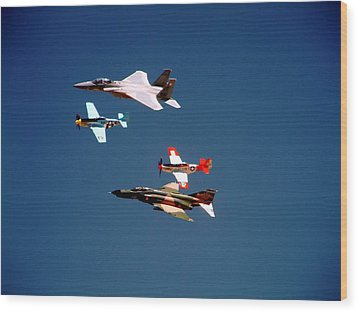 Air Force Heritage Flight Wood Print by Michael Courtney