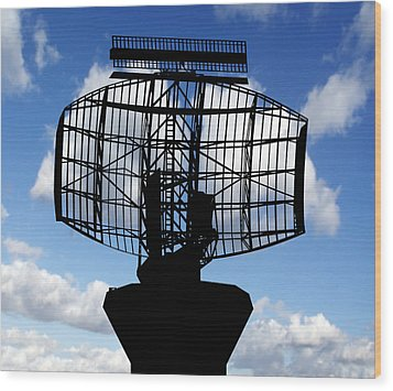 Air Traffic Control Radar Wood Print by Victor De Schwanberg