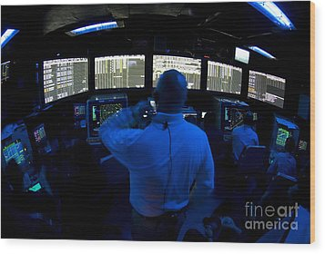 Air Traffic Controller Watches Wood Print by Stocktrek Images