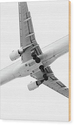Aircraft Wood Print by Daniel Kulinski