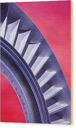 Aircraft Engine Fan Component Wood Print by Mark Williamson