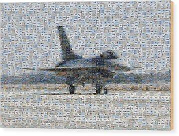 Airforce F-4866 Mosaic  Wood Print by Darleen Stry