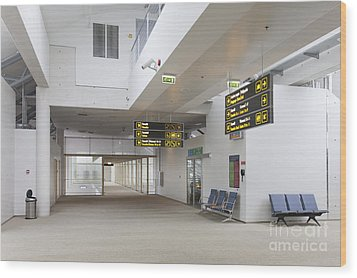 Airport Concourse Wood Print by Jaak Nilson
