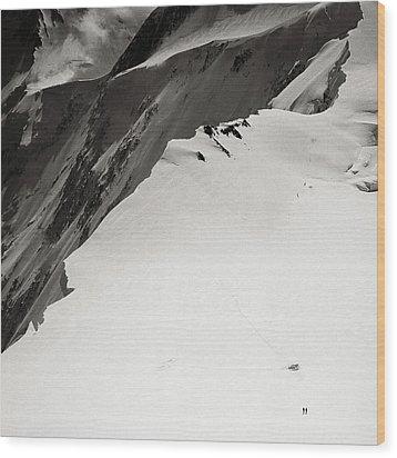 Akkem Wall. Western Plateau Wood Print by Konstantin Dikovsky
