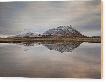 Akrafjall, Icelandic Mountain Wood Print by Johann S. Karlsson