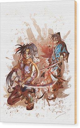 Aku Soku Zan 2 Wood Print by Tuan HollaBack